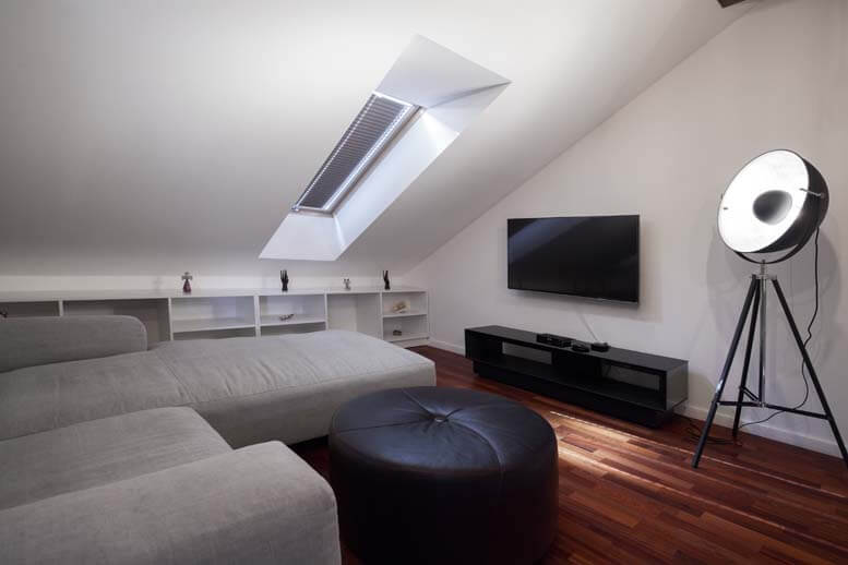 Rooflight conversion in house in Kingston upon Thames