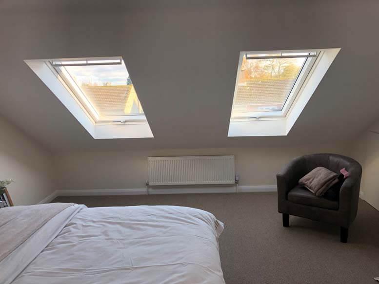 Velux rooflight loft conversion in house in Croydon