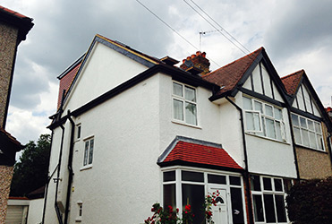 Hip to gable loft extension exterior view
