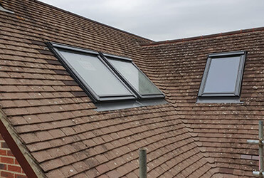 Loft extension with velux windows