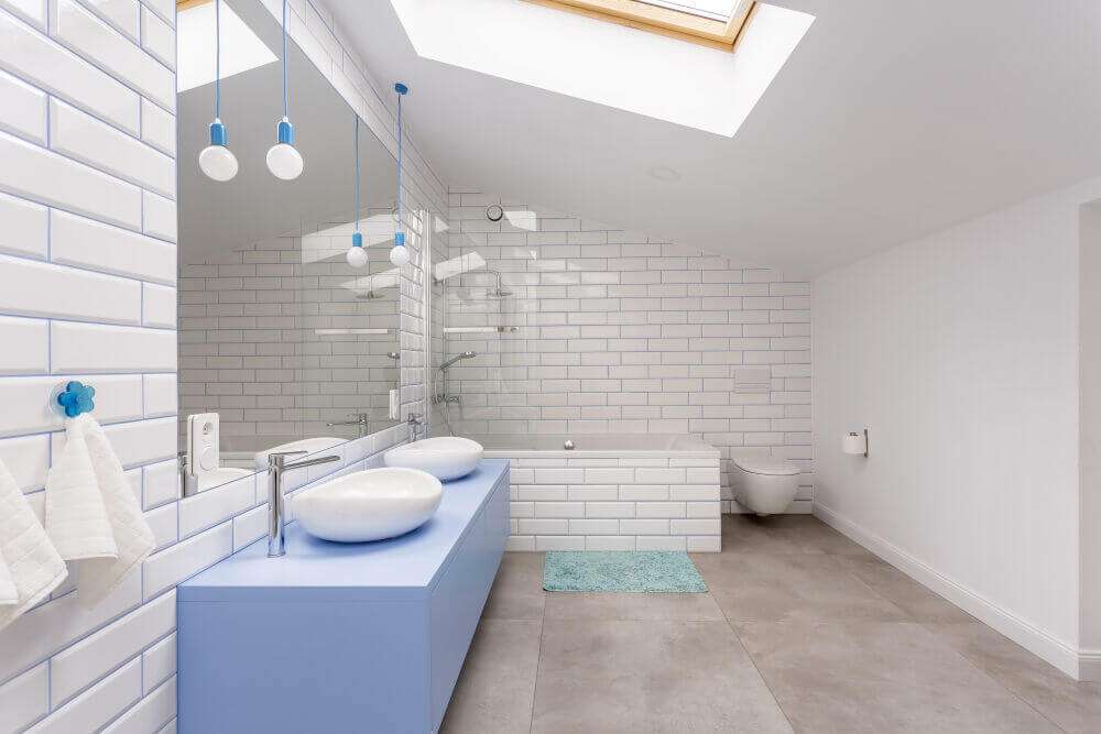 Complex rooflight loft conversion in home in Southfields SW18