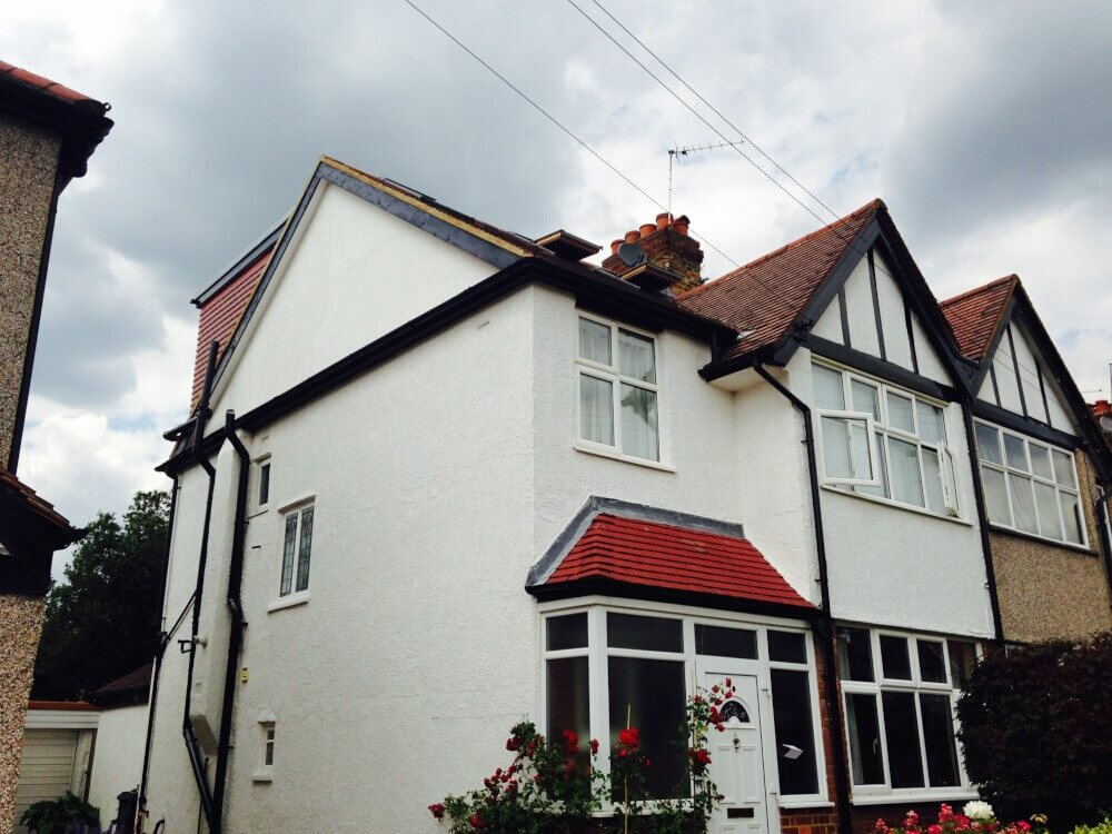 Hip to gable flat roof dormer in Kingston upon Thames