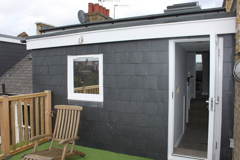 L shaped loft conversion in house in Queens Park