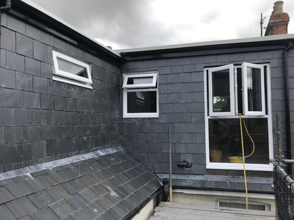 L shaped loft conversion on house in Richmond