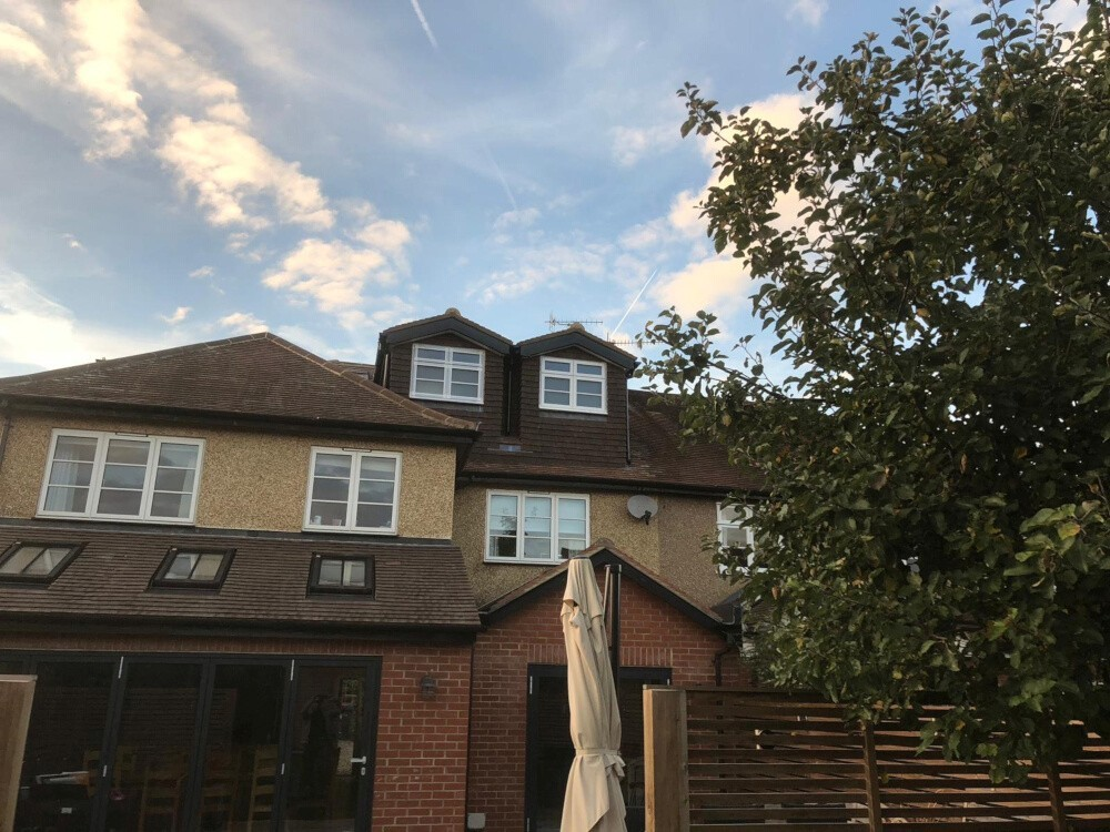Pitched roof dormers on house in Windsor