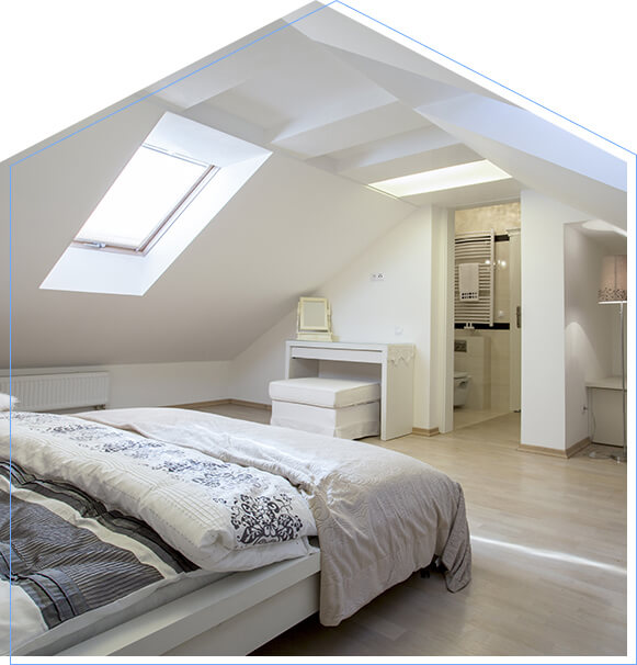Touchstone Loft Conversion Velux windows in Raynes Park