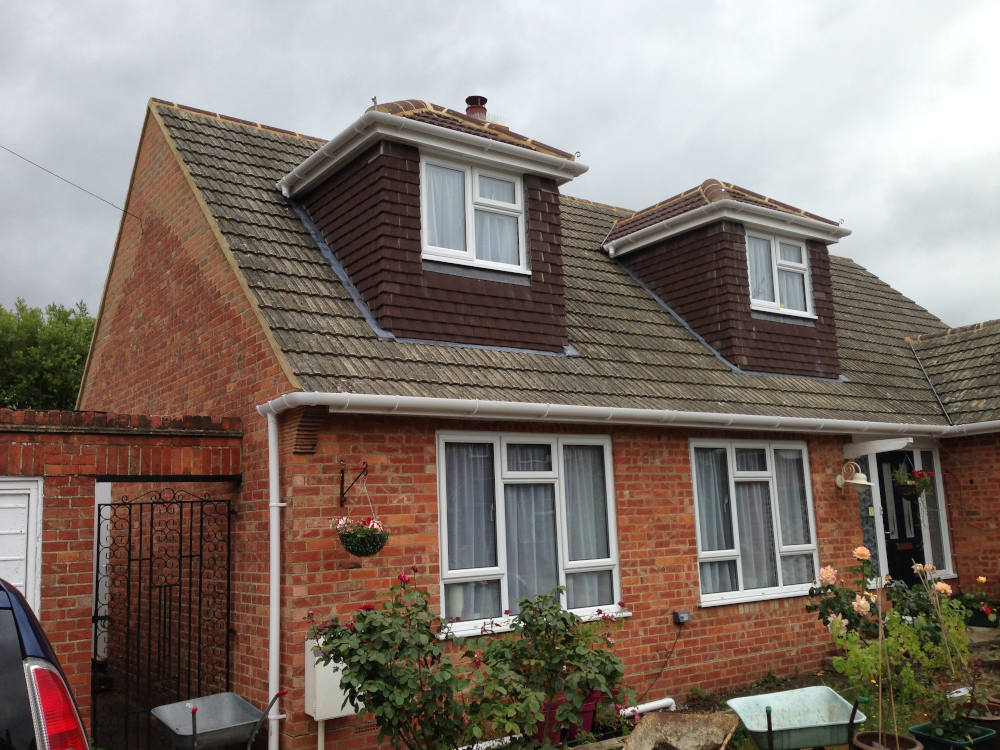 Pitched roof dormers on a bungalow in a house in Richmond