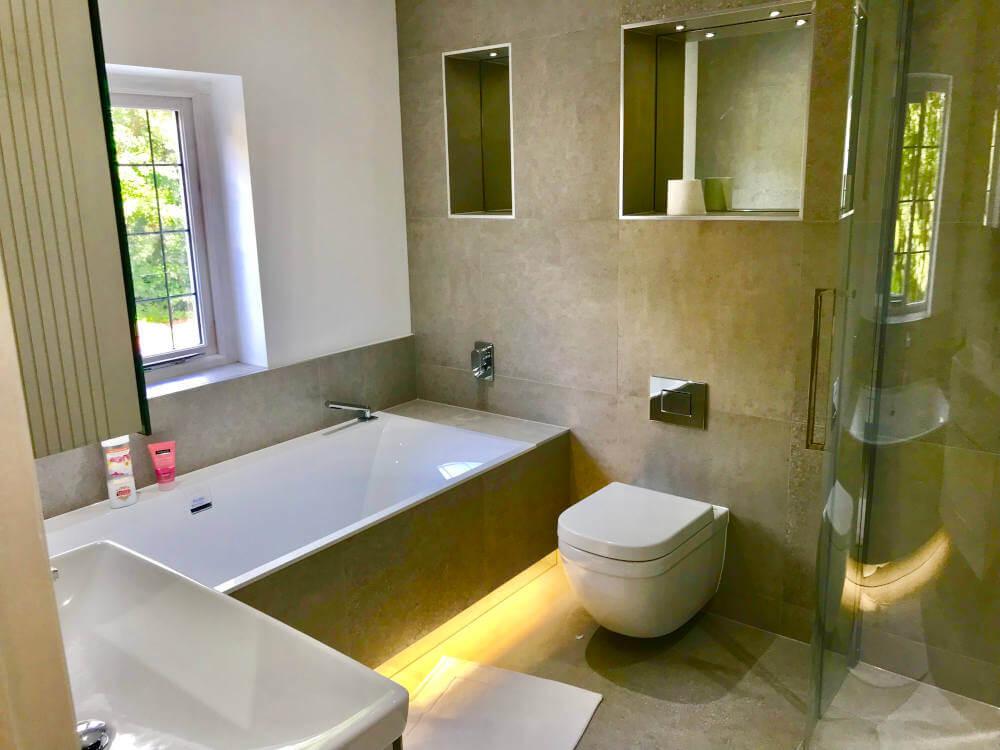 En suite bathroom in loft conversion